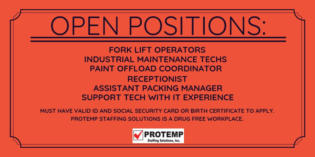 Current Openings | Protemp Staffing Solutions